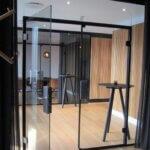 dobbeltdøre i glas