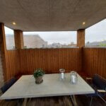 Læværn glas terrasse