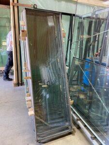 Renoverede vitral ovenlys vinduer