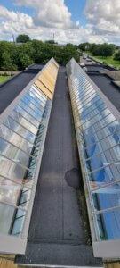 Renovering af vitral ovenlys vinduer